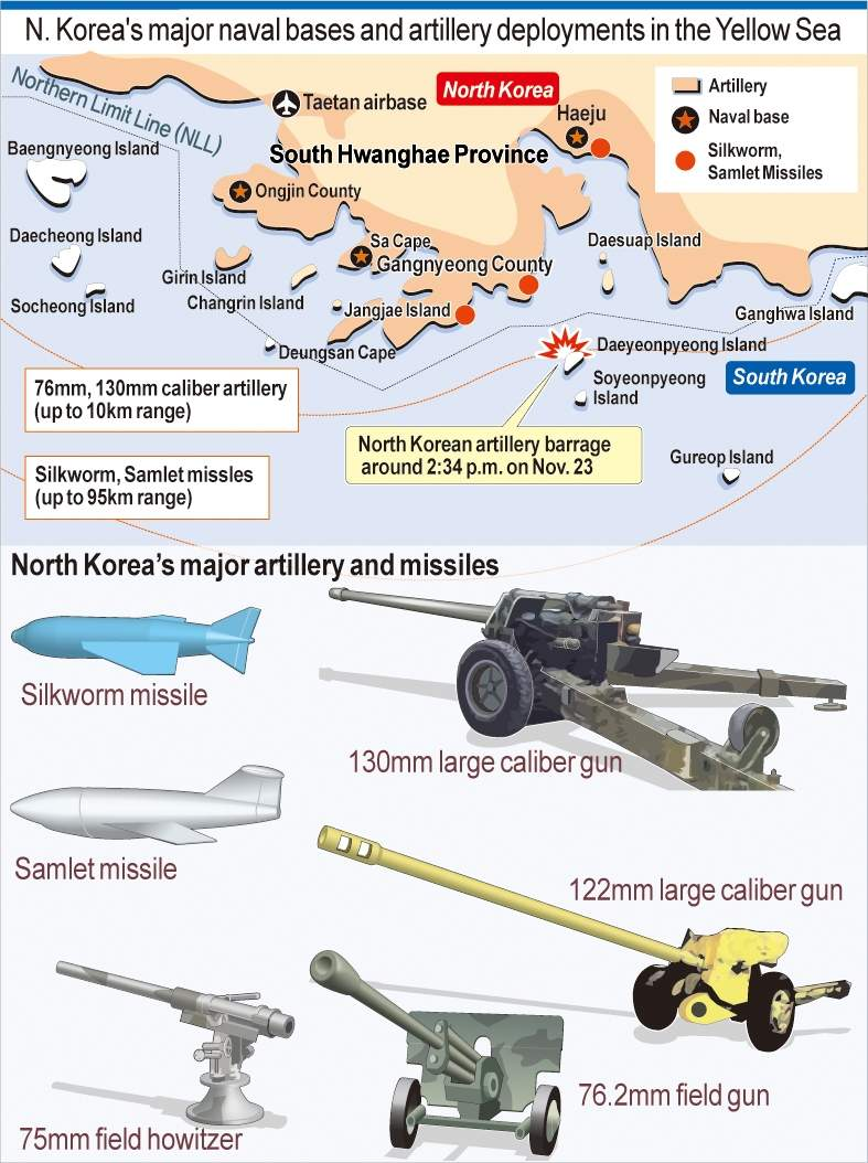 23Nov2010+MAP+North+Korean+Artillery+Attack+on+a+Southern+Island+2.