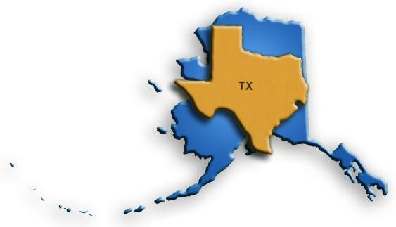Alaska-Texas.