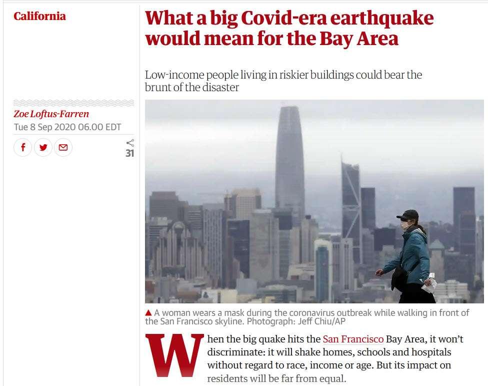 an earthquake during covid in California.