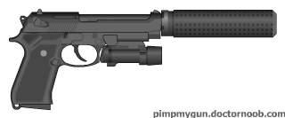 beretta M9 offensive handgun system.