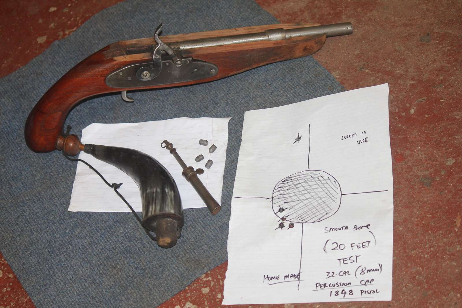 BUILDING A PERCUSSION PISTOL ---ALL PHASES --ONE YEARS WORK 006.JPG