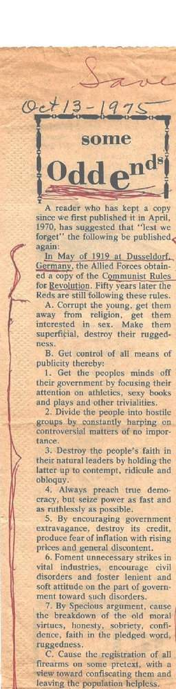 Communist Rules for Revolution.