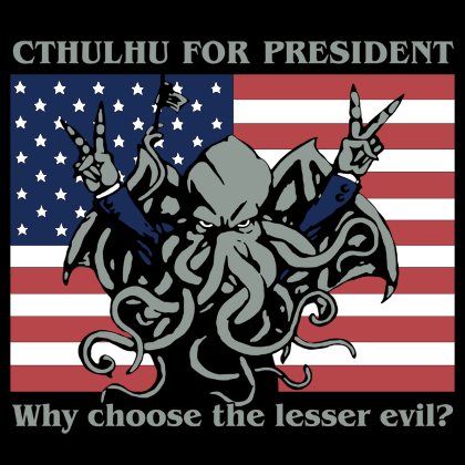 Cthulu Pres poster.