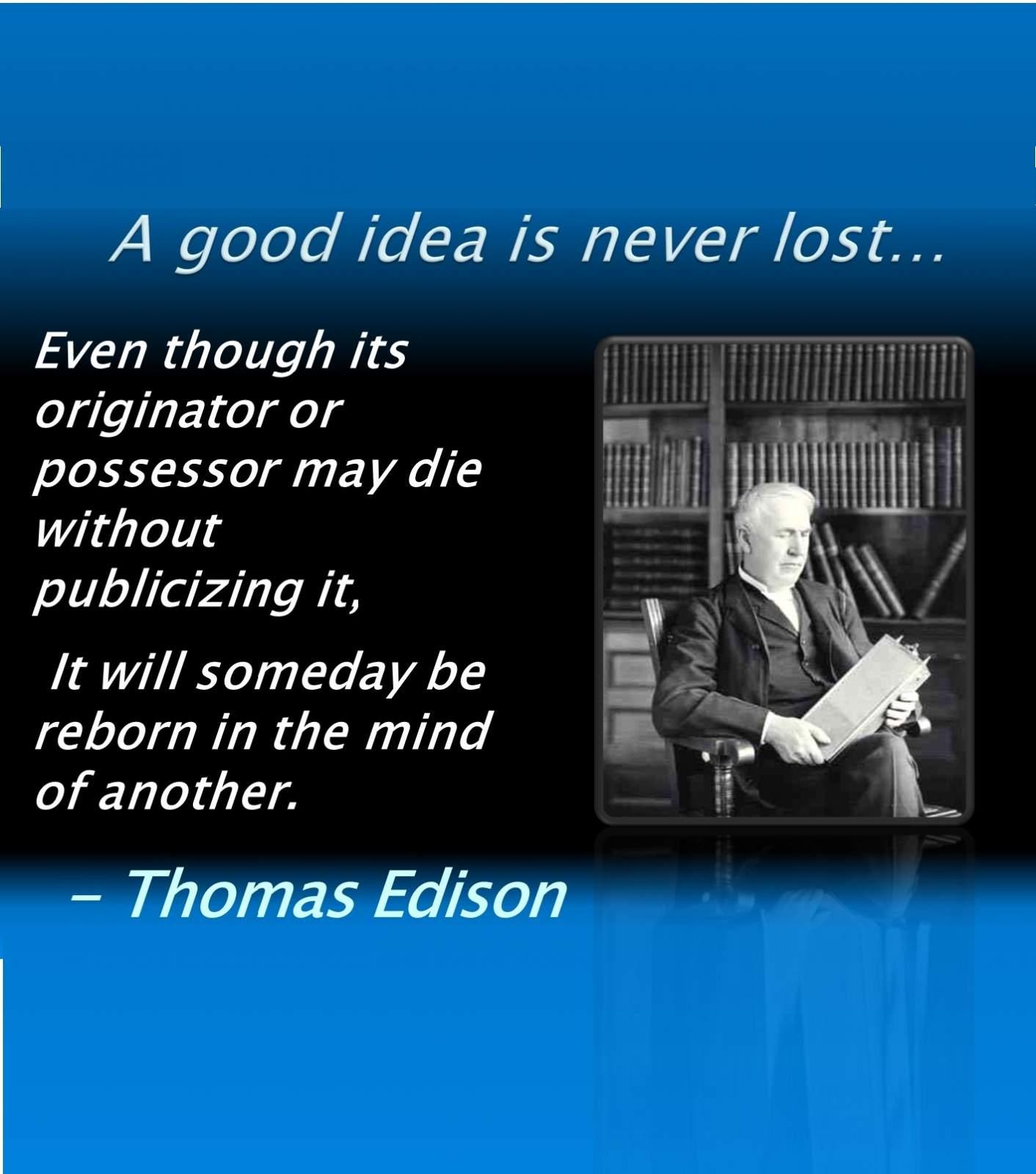 Edison Quote.