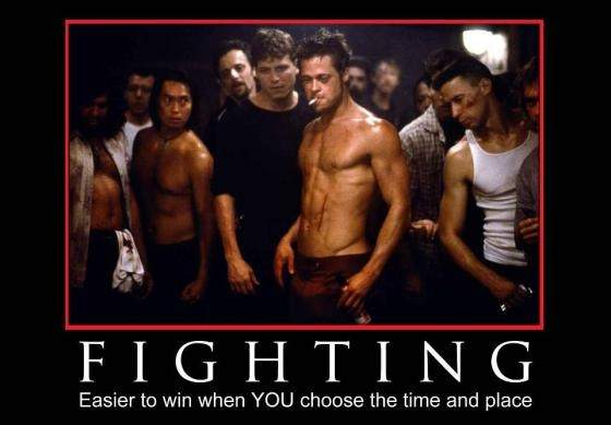 fighting.