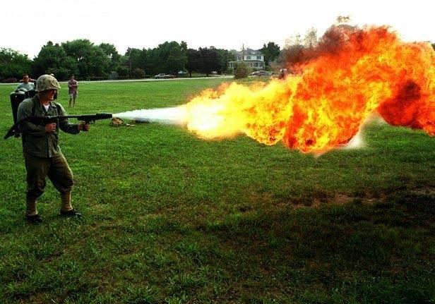 flamethrower.