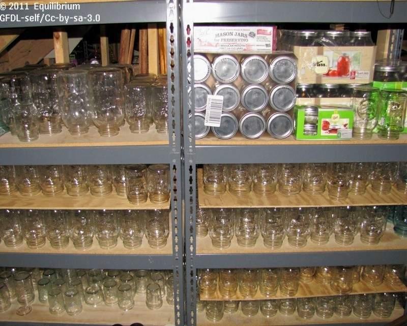 glass mason jars.