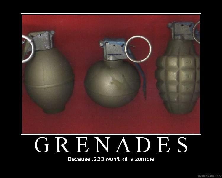 Grenades.
