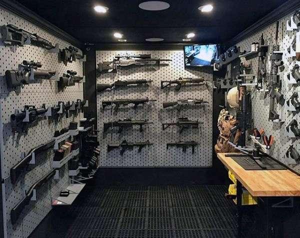 gun vault.