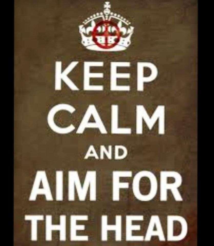 Keep Calm and Aim for the Head.