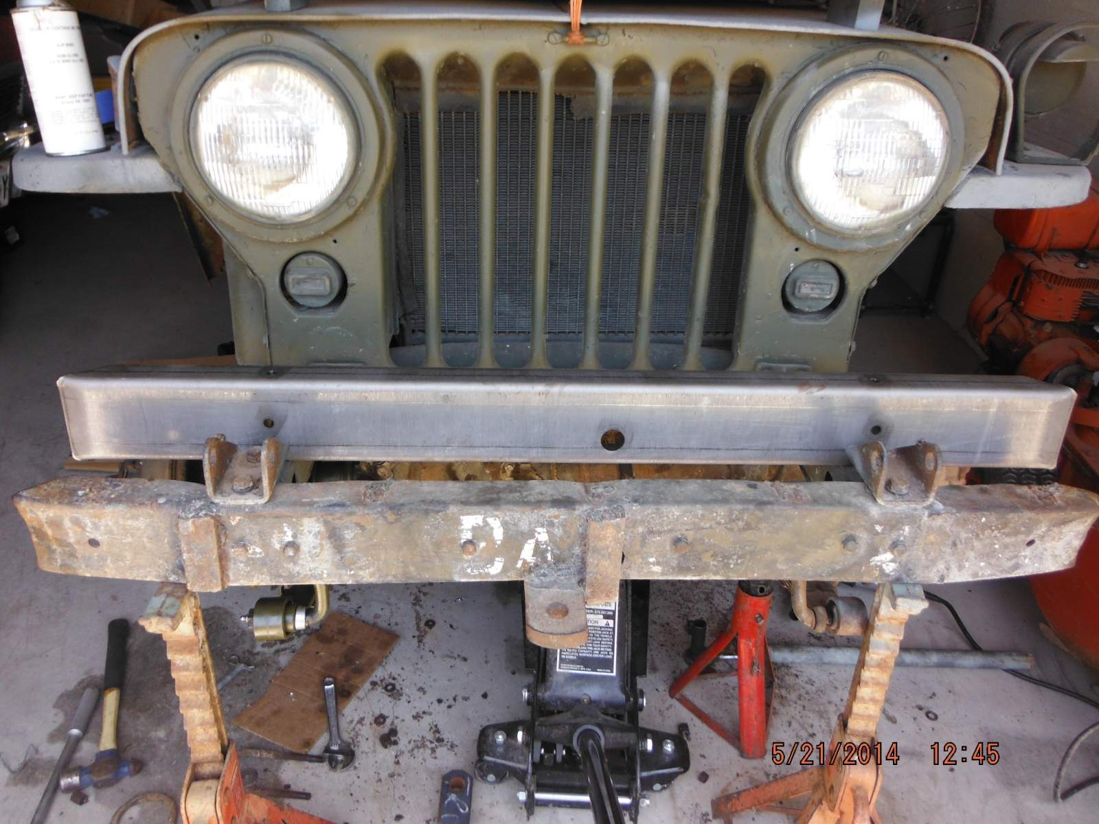 M38 Jeep New Front Bumper in the White.JPG