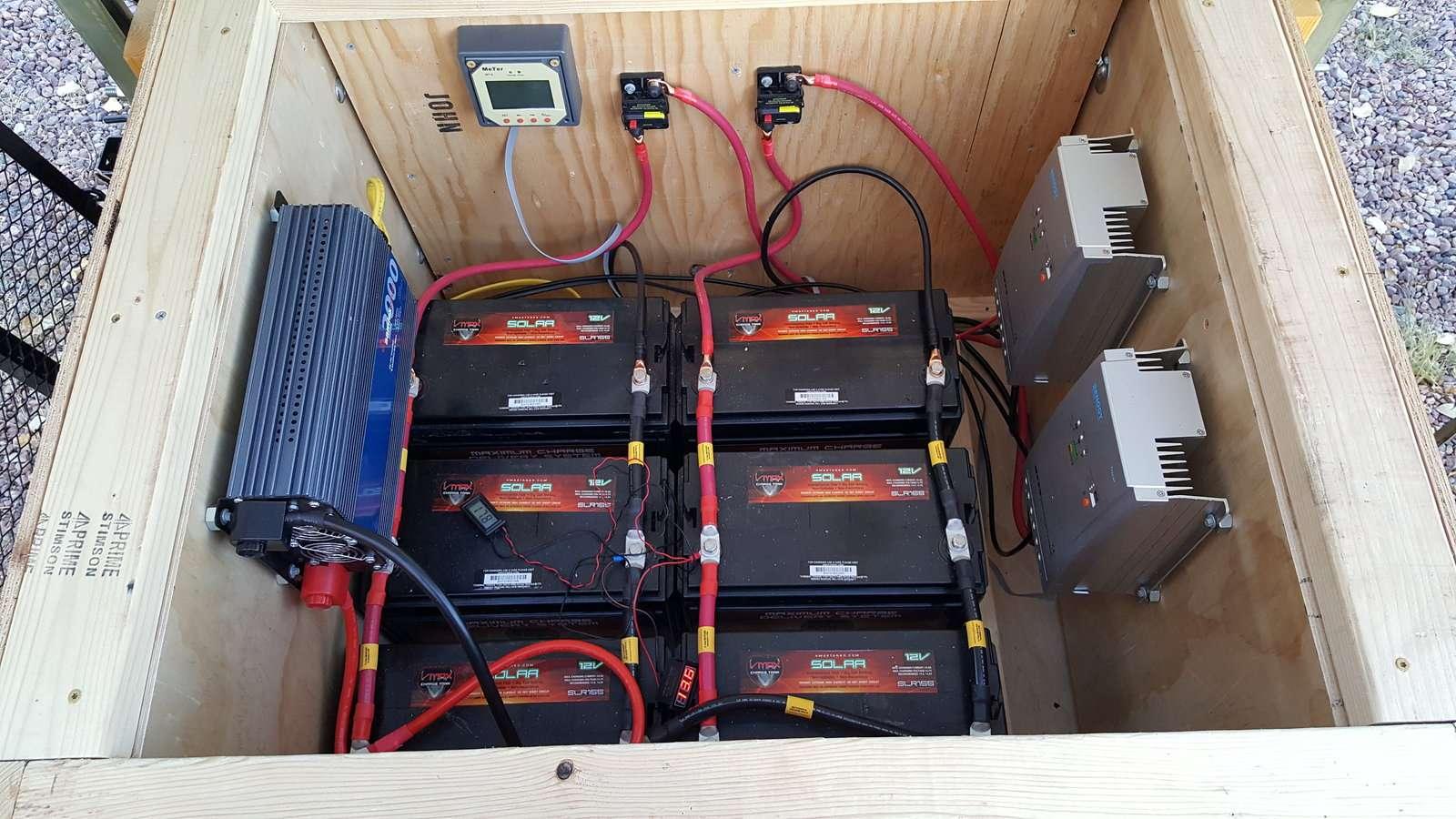 Off grid solar trailer.