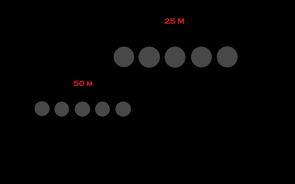 summer biathlon 25 and 50 M.