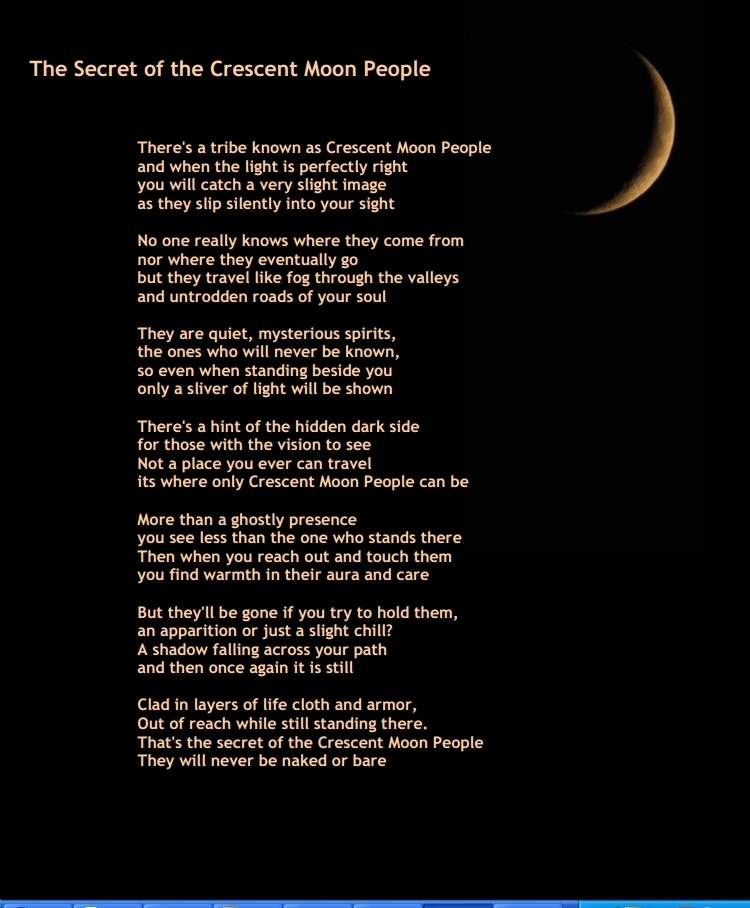 The Secret of the Crescent Moon People.