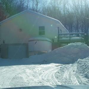snow pile, winter 15