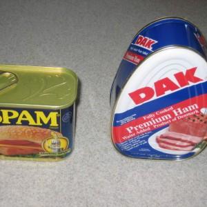 SPAM DAK cans