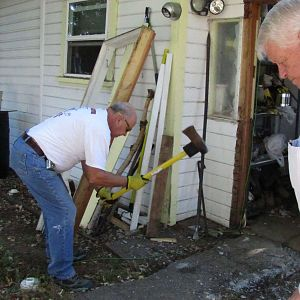 Taking out the many decades heaved concrete