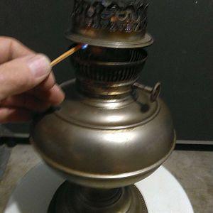 lamp lighting position.