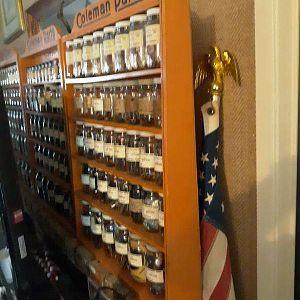 Coleman parts shelf