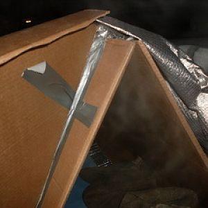 Cardboard Shelter Outside Detail