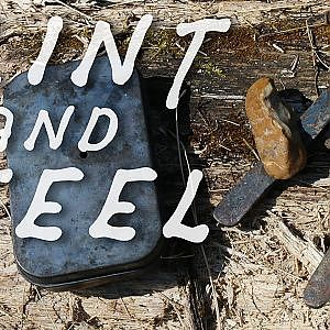 Making a Flint & Steel Fire - Bushcraft - YouTube